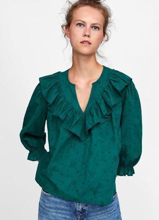 Рубашка / блуза с перфорацией zara