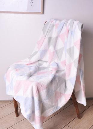 Мягкий флисовый плед 110х170 см