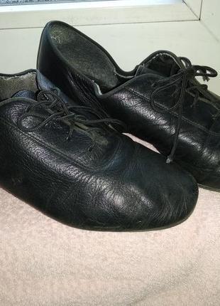 Чёрные туфли для бальных танцев eckse, размер 37