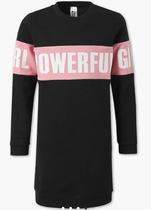 Теплое спортивное платье - свитшот с надписью на девочек, c&a