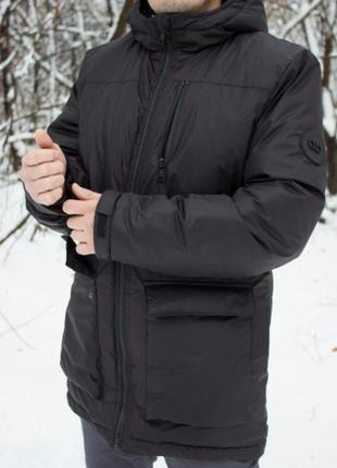 Скидки! мужская зимняя куртка на холодную зиму. есть капюшон