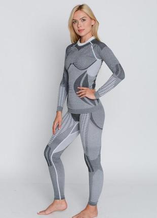 Комплект женского термобелья hanna style haster alpaca wool xs серый
