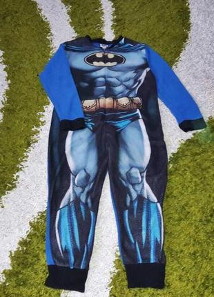 """Тепла флісова піжама кігурумі """"batman"""", розмір 140"""