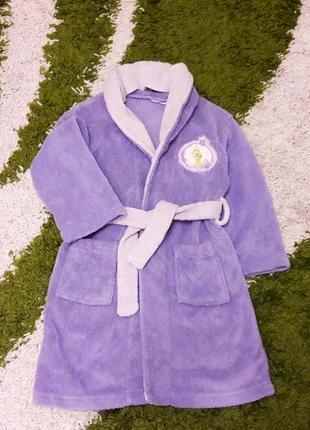 Модний махровий халат з принцесою, розмір 98-104