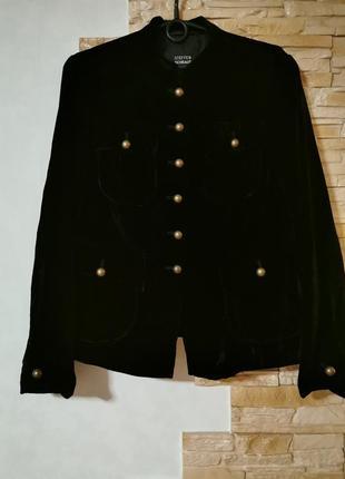 Шикарный стильный велюровый жакет, пиджак  steffen schraut