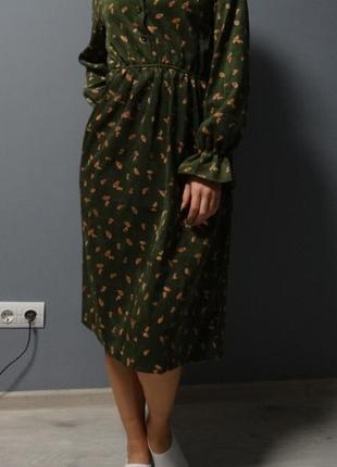 !!!святкова знижка - модне зелене плаття/модное зеленое платье, розмір xl
