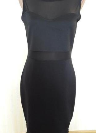 Элегантное платье с вставками сетка