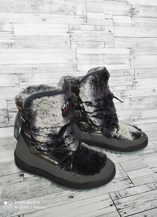Зимові чобітки/зимние сапоги /дутики skandia-tex мембрна 38р