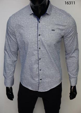 Рубашка мужская paul smith с регулировкой рукава модели в ассортименте