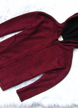 Стильная кофта свитер  реглан   с капюшоном zara