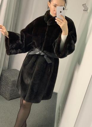 Норковая шуба кимоно nafa