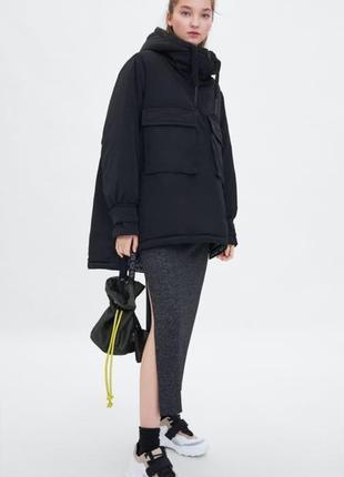 Куртка парка пуховик пальто zara размер s-m