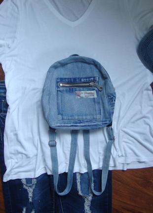 Джинсовый рюкзачок рюкзак прогулочный