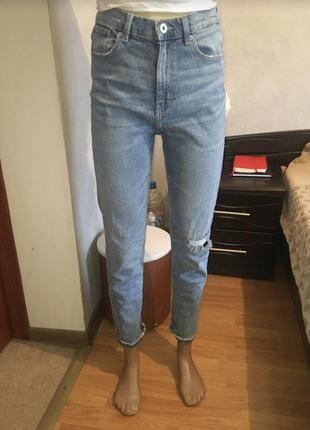 Джинсы высокая посадка мом джинсы
