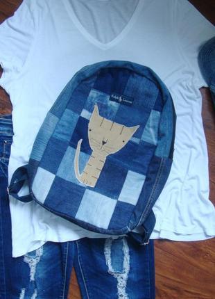 Джинсовый рюкзак эксклюзивный