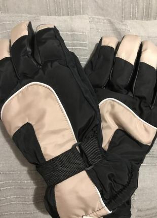 Тёплые болоньевые  мужские перчатки
