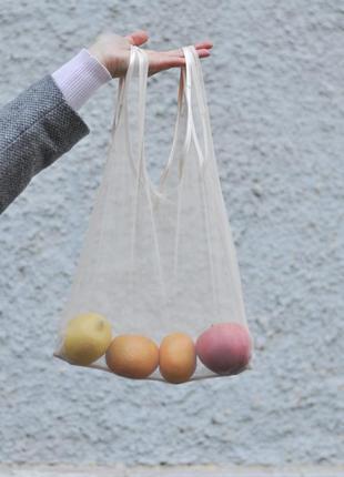 Еко-пакет пакет-майка торбинка з сіточки фруктівниця фруктовка эко-пакет пакет-майка