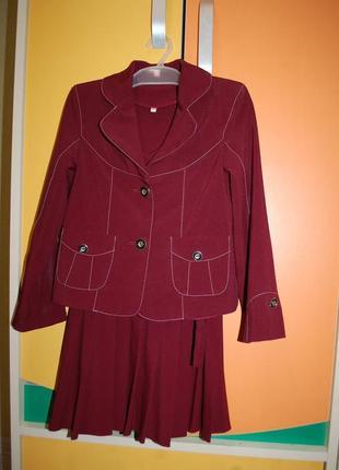 Форма на дівчинку на девочку  шкільна школьная тройка пиджак сарафан