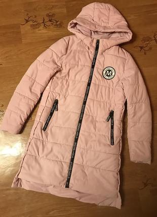 Куртка, пуховик розовый , классный