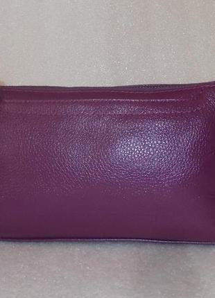 Фиолетовая сумка crossbody натуральная кожа