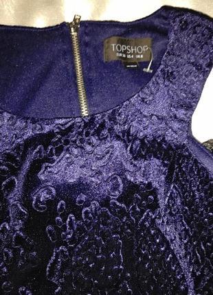 Платье бархатное в животный принт