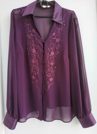 Блузка m&s с вышивкой и пайетками