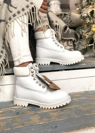 Timberland зимние меховые ботинки из натуральной кожи /осень/зима/весна😍