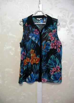 Полупрозрачная блуза в цветочный принт new look