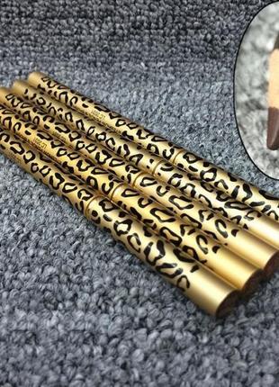 Водостойкий карандаш для бровей leopard с щеточкой