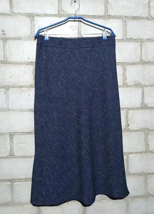 Меланжевая юбка на высокой посадке миди