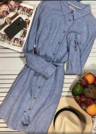 Льняное платья рубашка f&f