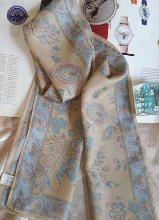 Оригинальный шарф шарфик твилли  liz claiborne   пастельные тона 134/26
