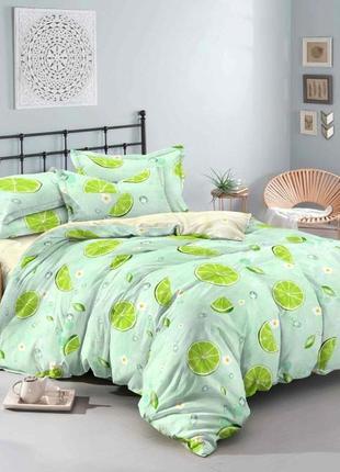 Комплект постельного белья лайм двуспальный