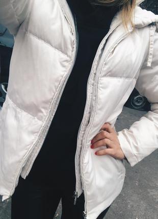 Дутая куртка пуховик zara h&m geox