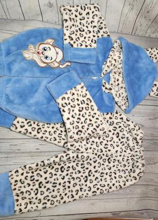 Теплая махровая пижама на мальчика