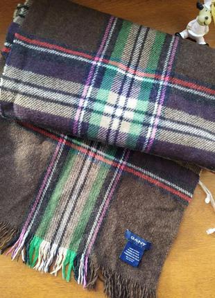 Длинный шерстяной шарф gant