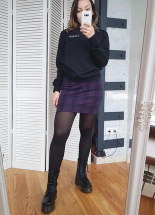 Теплая мини юбка