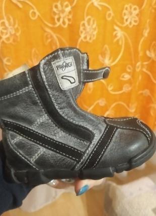 Добротные кожаные демисезонные ботинки