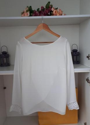 Воздушная блузка длинный рукав