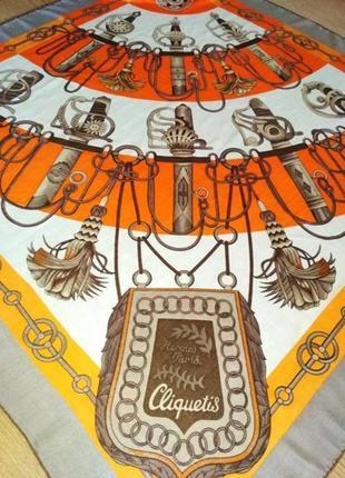 Hermes cliquetis уникальный экземпляр, кашемир,шерсть,шелк,шов роуль