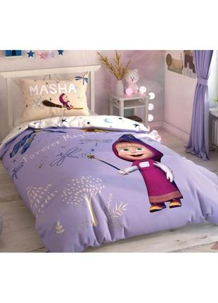 Детское подростковое постельное белье tac маша и медведь. ранфорс