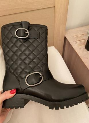 Новые кожаные ботинки michael michael kors rosario boots5 фото