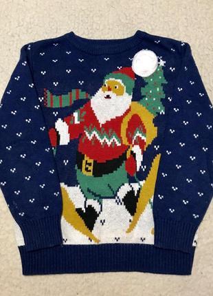 Кофта праздничная свитер с подсветкой и рождественской мелодией от тu