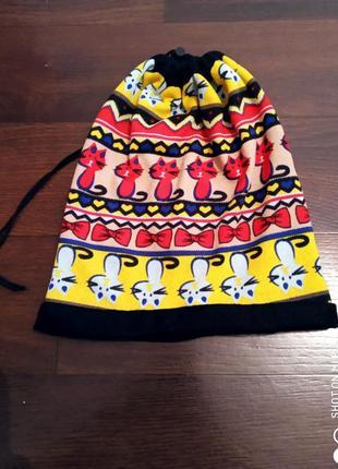 Шапка шарф 2в1