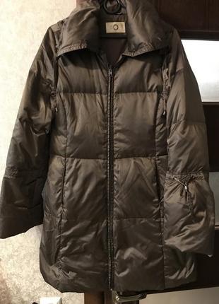 Пуховик плащ пальто