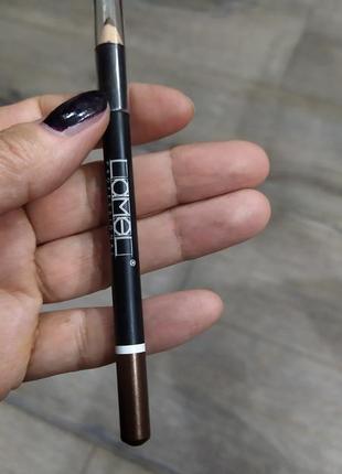 Коричневый карандаш для глаз lamel professional, тон 110