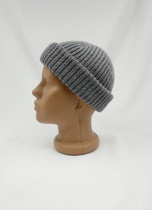 Мужская классическая шапка с посадкой по голове из мериносовой шерсти, шапка кусто