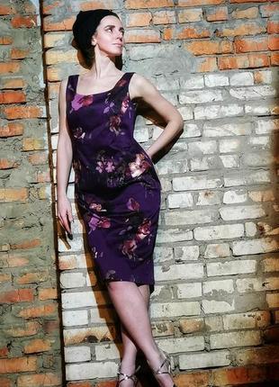 Платье миди laura ashley в принт цветы коттон хлопок футляр