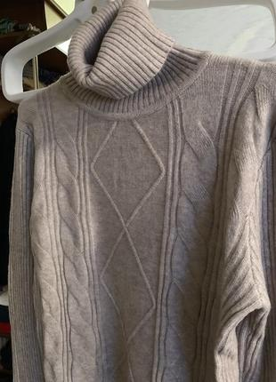 Тёплый свитер кашемир шерсть