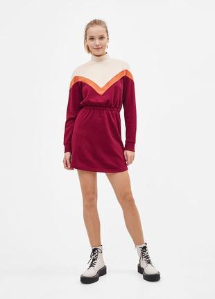 Спортивное платье свитшот bershka - s